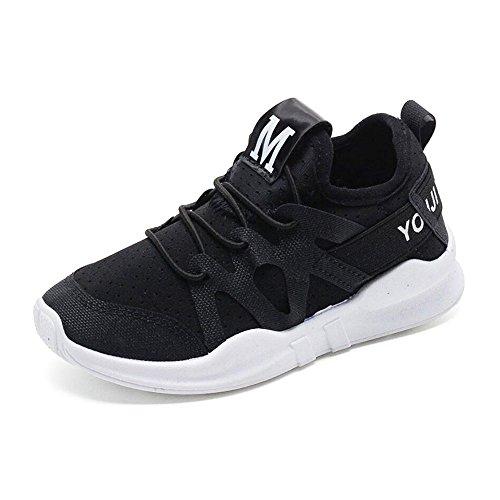 842e57d2341ef3 [Lakeda] 子供用 スニーカー 子供靴 キッズ ジュニア 上履き 運動靴 黒 白 ピンク