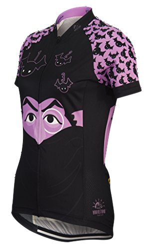 Brainstorm Gear Sesame Street Women's The Count Cycling Jersey (Medium) ()