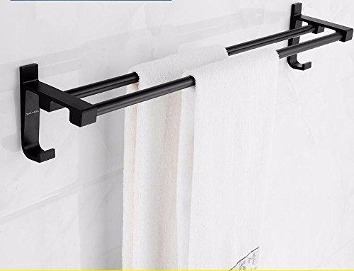 Aluminum Alloy 50cm Space Double Holder Towel Rails - 1