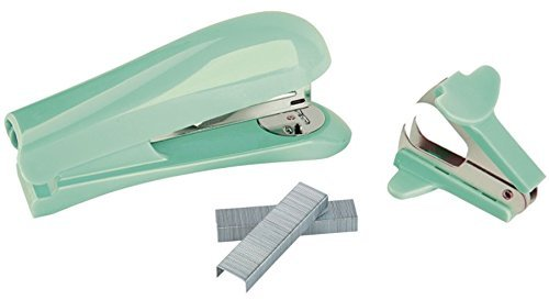 Office Depot Brand Half-Strip Stapler With Staples and Remover (Mint)