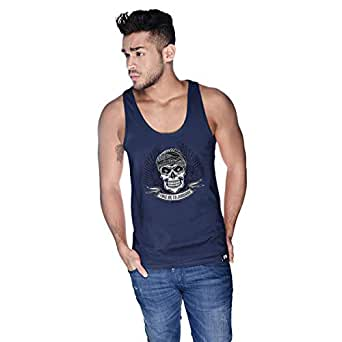 Creo Take Me To Jumeirah Bikers Tank Top For Men - S, Navy Blue