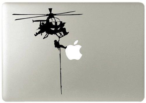 Bell UH-1 Iroquois Door Gunner macbook vinyl decal