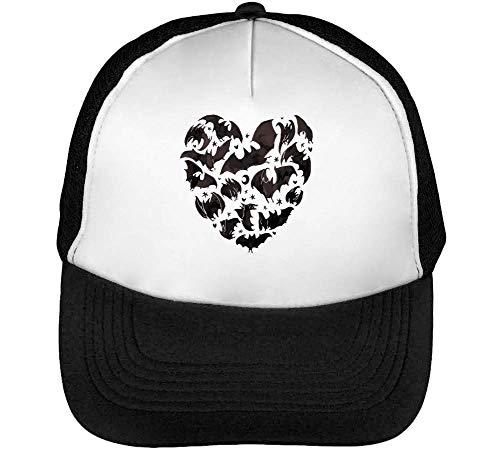 Heart Made Blanco Negro Snapback Gorras Hombre Bats Beisbol From rrxUwq6OA