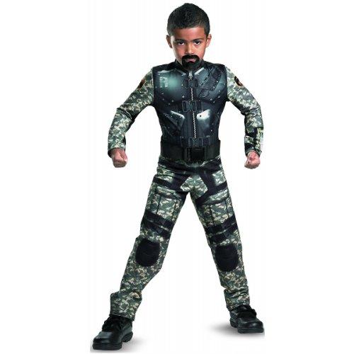 G.i. Joe Retaliation Roadblock Classic Costume, Black/Camo, Large (Gi Joe Retaliation Roadblock)