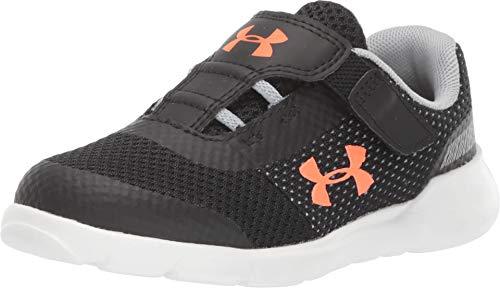 Under Armour Boys' Infant RN6 Sneaker, Black (003)/White, 9
