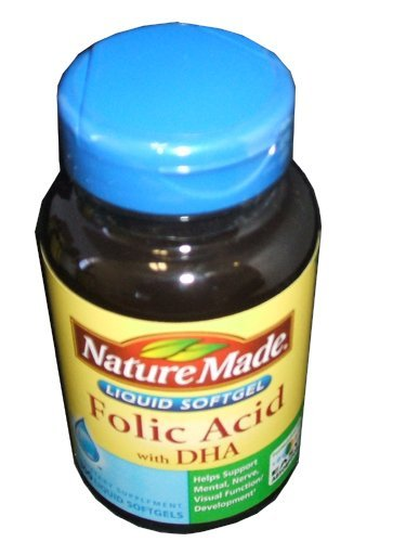 Nature Made acide folique 600 mcg de DHA - 300 gélules