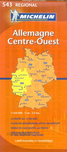 Michelin Germany Midwest: Nordrhein-westfalen, Hessen, Rheinland-pfalz, Saarland (Michelin Map)