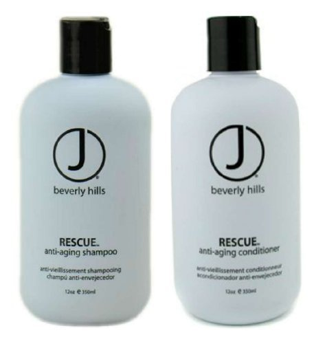 J Beverly Hills Hair Products (J Beverly Hills Rescue Anti-Aging Shampoo 12 oz + Rescue Conditioner 12 oz)