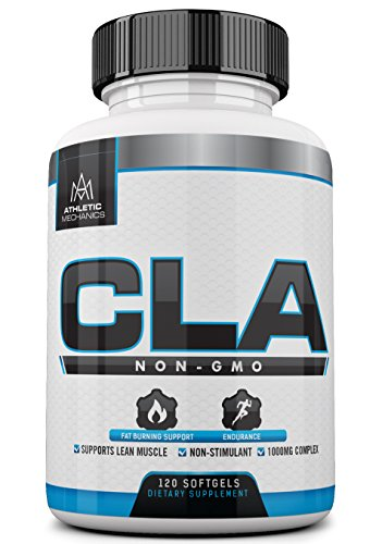 Athletic Mechanics – CLA – Non-GMO, Non-Stimulant – 1,000mg – Fat Burner for Fat Loss/Weight Loss, Endurance, Antioxidant, Anticarcinogen, Preserves Lean Muscles, 120 Softgels. Review