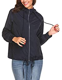 Women's Waterproof Hooded Raincoat Active Outdoor...