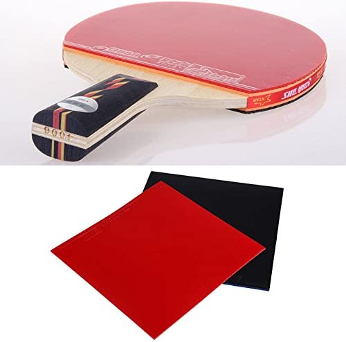 2 Pack, 1 x Red + 1 x Black Muzitao UltraBite Table Tennis Rubber Table Tennis Bat Replacement Rubbers