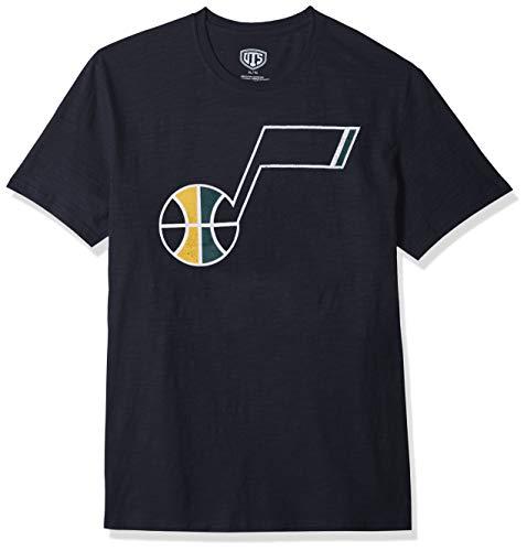 NBA Utah Jazz Male OTS Slub Distressed Tee, Fall Navy, XX-Large ()