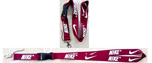 713b907ccc308 Nike Lanyard Keychain Holder Maroon Red with White