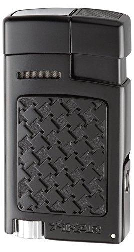 Xikar Forte Houndstooth Soft Flame Lighter (Black Houndstooth)