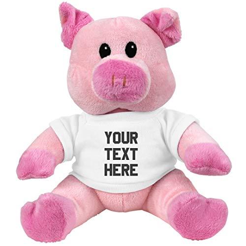 Custom Pig Plush: 7.5 Inch Pink Piggie Stuffed ()