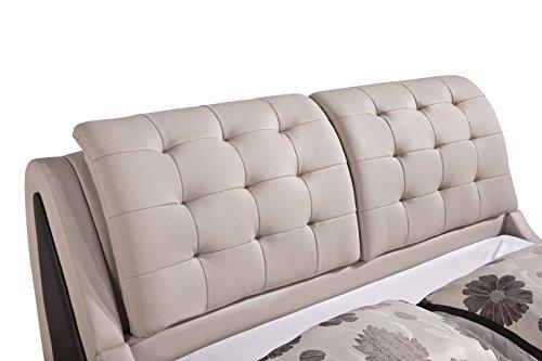 home, kitchen, furniture, bedroom furniture, beds, frames, bases,  beds 9 picture US Pride Furniture Victoria Leather Contemporary Platform Bed promotion
