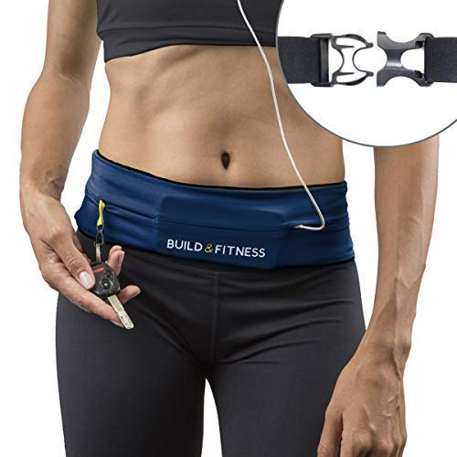 Build & Fitness Running Belt, Adjustable Waist, Comfortable, Slim, Key Clip - Fits Fuel Gel, iPhone 6,7,8plus,X, Samsung S7,S8,S9 - for Men, Women, Runners, Jogging, Gym, Yoga, Workout by Build & Fitness (Image #10)