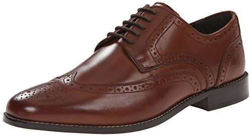 Nunn Bush Men's Nelson Wing Tip Oxford Dress Casual Lace-up,Brown,8.5 M US