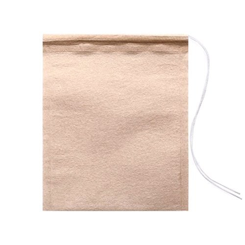 HULLR Disposable Filter Tea Bags Infusers - Large Unbleached 100 Count