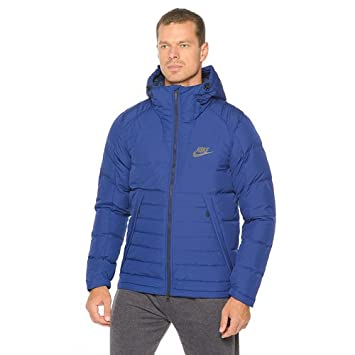 d96fe900ff0bc9 Nike Men's M NSW DOWN FILL HD JACKET Coastal Blue/Obsidian/Black, X ...