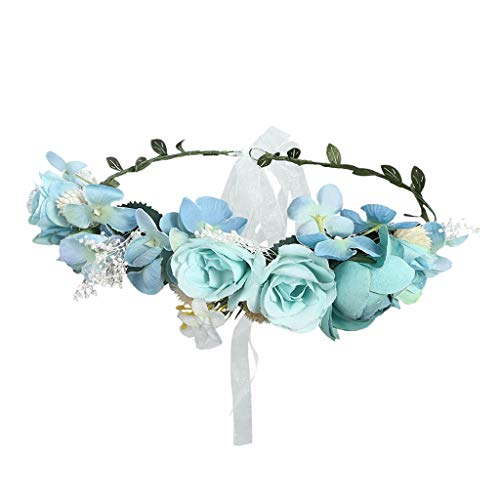 Romantic Flower Crown for Women Boho Wedding Garland