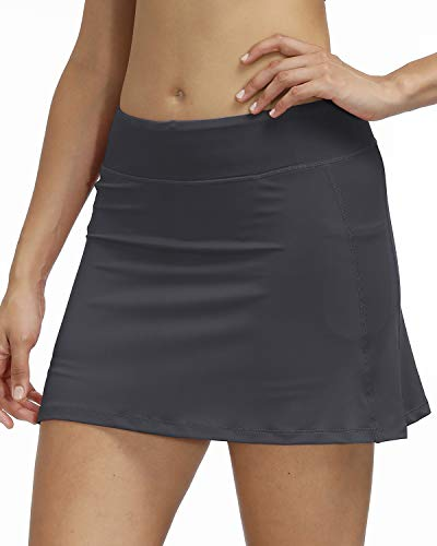 3AXE Women's Tennis Skorts with Inner Shorts Pockets Golf Sports Running Dress Lightweight Active Skirts
