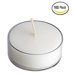 Royal Imports Clear Acrylic Tea-light Candles Wedding, Birthday, Holiday & Home Decoration, 1.5 Inch, White Wax