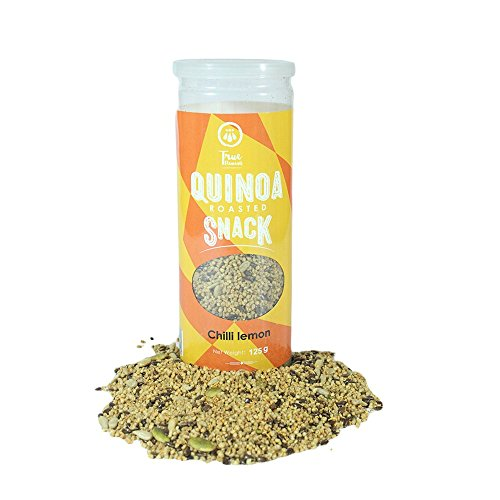 True Elements roasted quinoa snack- chilli lemon flavor 125g