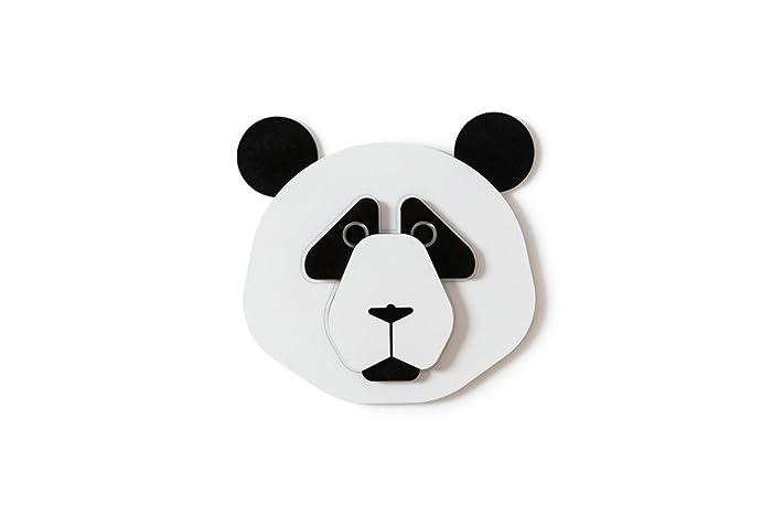 Amazon.com: Panda Bear Head Decor, Kids Wood Wall Decor, Nursery ...
