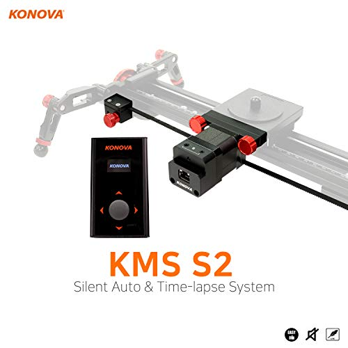 KONOVA New Motorized System KMS S2 for Live Motion and Timelapse Compatible with All Konova Sliders
