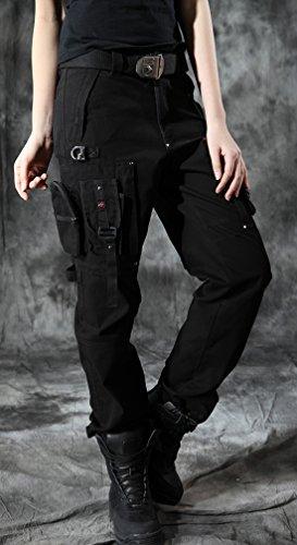 Aliexpress.com : Buy Waatfaak High Waist Trousers Women ...  |Black Cargo Pants For Girls