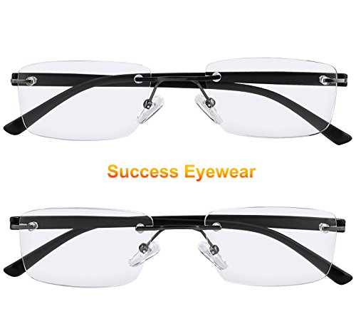 5ac5f0ada38 Reading Glasses Set of 2 Rimless Lightweight Readers Ultra Comfort Quality  Glasses for Reading Men and Women +1.75 - Buy Online in UAE.