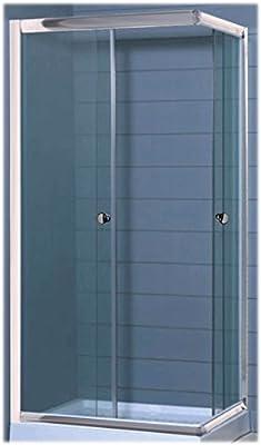 GABBIANO Cabina de ducha con 2 puertas de cristal transparente de ...