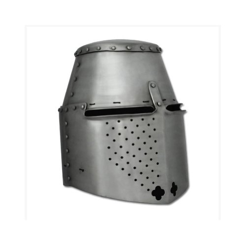 Armor Venue Great Helm - Medieval Helmet - 14g Steel - Metallic - Medium