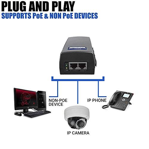 BV-Tech Single Gigabit Port Power over Ethernet PoE Injector – 15.4W – 802.3af – up to 100 meters (325 Feet) – BV-I100GL by BV-Tech (Image #4)