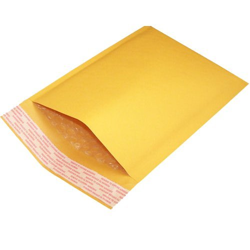 1 Pack of 200 Kraft Bubble Mailer Padded Envelopes, Self Sealing, Size #1, 7.25 x 12 ( 1 x 200 Bubble Mailers (#1) ) Inkfirst ENV1-1-A