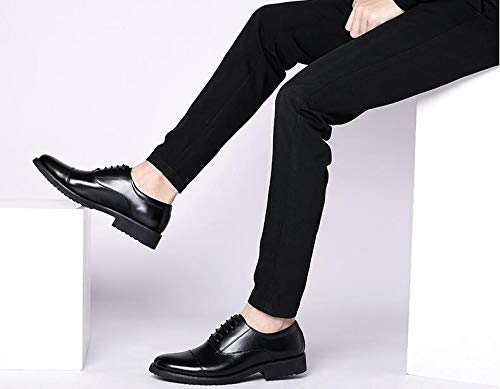 ZHANGHUI Mens Fashion Three Joint Leather Mens Shoes Business Dress Shoes