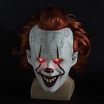 Amazon.com: Horror Clown LED Light up Party Mask Halloween ...