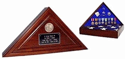 Walnut-cherry Heirloom Finish,Wood Flag Case features a walnut-cherry heirloom finish designed to hold a 5' x 9.5' Burial Flag.