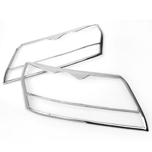 Front Chrome Bumper Head Light Cover Trims for 2007 Up Suzuki Grand Vitara Brand (Grand Vitara Front Bumper Cover)