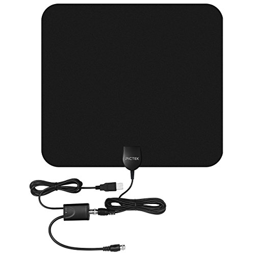 Pictek 50 Miles Amplified Indoor HDTV Antenna with CCF Tech - Import It All