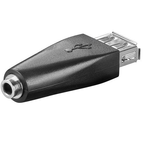 /Adaptateur USB femelle vers Jack femelle Noir cablepelado/