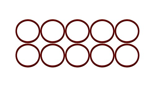 341 O-ring - Sterling Seal ORSIL341x10 Number 341 Standard Silicone O-Ring, Excellent Resistance to Oxygen, Ozone and Sunlight, Vinyl Methyl Silicone, 70 Durometer Hardness, 3-1/2