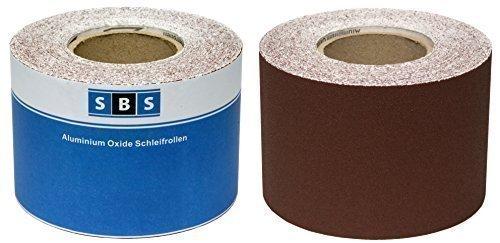 SBS Papier abrasif Rouleau 115 mm x 10 m Grain 40 Oxyde d'aluminium rouleau