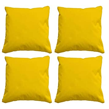 Brilliant Beautiful Beanbags Water Resistant Cushions Set Of 4 Garden Cushions 4 Funky Outdoor Cushions Perfect For Indoors Or Outdoors Yellow Caraccident5 Cool Chair Designs And Ideas Caraccident5Info