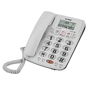 Richer-R Teléfono con Cable de 2 líneas,Teléfono Fijo
