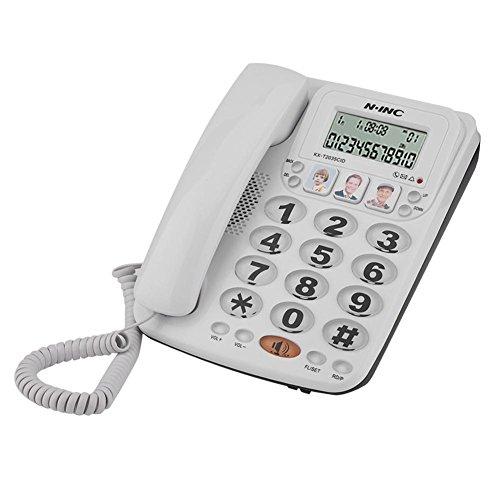 Line Speakerphone 2 Hotel (Serounder Corded Telephone, Home Landline Corded Phone with Speakerphone &Caller ID,2-line Corded Telephone Clear Sound for Home/Office/Hotel)