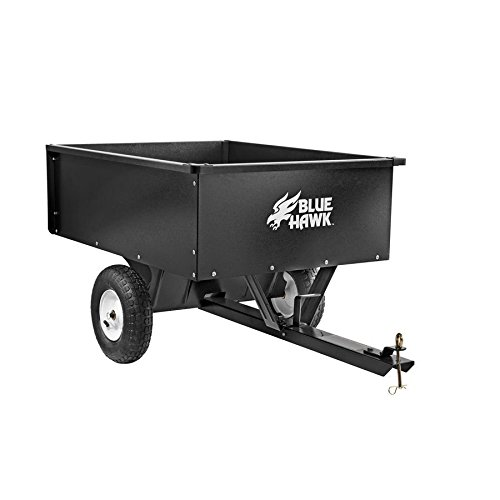 10cu ft Steel Dump Cart Garden Yard Wagon Lawn tractor Mower trailer Attachment Lawn Tractor Wagon