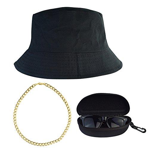 Miayon 3Pcs Hip Hop Costume Kits 80s 90s Cool Style Hip Hop (80s 90s Hip Hop Costumes)