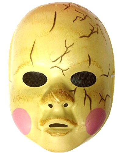 Zombie Baby Doll Face Mask Creepy Scary Halloween